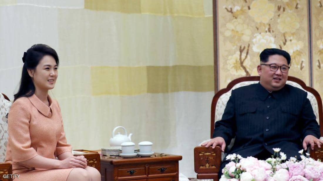 Kim Jong Un with his wife, Ri Sool Jo