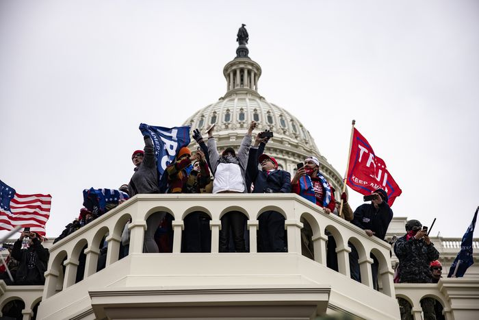 """Trump Supporters Hold """"Stop The Steal"""" Rally In DC Amid Ratification Of Presidential Election - photo credit: Samuel Corum"""